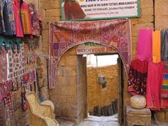 One of Jaisalmer's many souvenir vendors' wares for sale