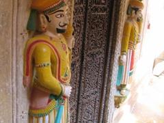 Intricate wooden carvings; Nathmal-Ki-Haveli; Jaisalmer