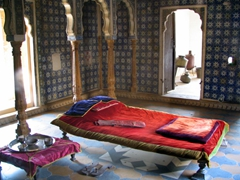 Simple bedroom; Jaisalmer Palace