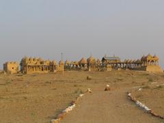 Ornate tombs; Dungari sunset point; Jaisalmer