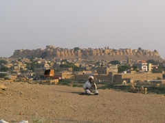 View of Jaisalmer Fort from Dungari Sunset Point
