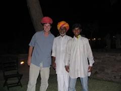 Robby and the magicians, Bal Samand Palace's gardens; Jodhpur