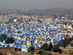 Jodhpur's mesmerizing blue; view from Meherangarh fort (overlooking the Brahmin caste's adobes)