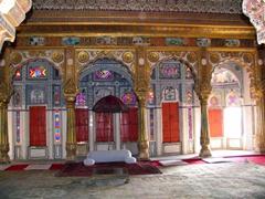 Gorgeous golden columns; Jodhpur's Meherangarh Fort