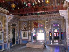 Swank room in the Mehrangarh Fort, Jodhpur