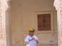 Flute player; Meherangarh Fort