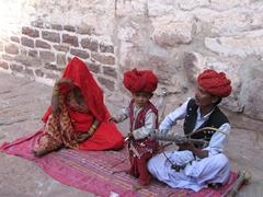 Street performers; Jodhpur's Meherangarh Fort