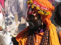 A Sadhu enjoying Pushkar's festivities