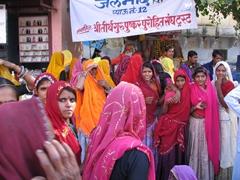 Colorful saris; Pushkar