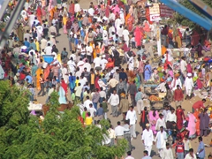 Throngs of people gather for the Pushkar Camel Festival