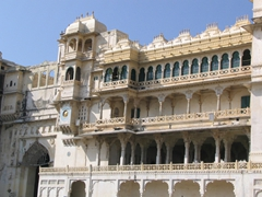 Facade of the Udaipur City Palace