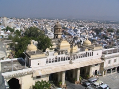View overlooking Udaipur from City Palace balcony