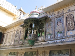 View of the King's private balcony; Udaipur City Palace