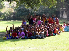 Indian school group; Saheliyon-ki-Bari Garden