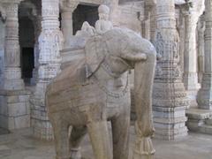 Interior of Chaumukha Temple