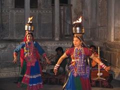 Traditional dance performance; Bagore-ki-Haveli