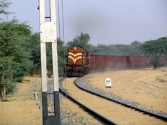 Woooo, woooo! Train coming full steam ahead in Bikaner