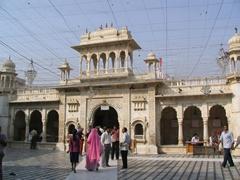 Main entrance to the Karni Mata Temple (holy rat temple)