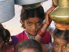 Close up of village girls; Jaisalmer
