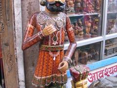 Traditional Rajasthani figurines; Jodhpur's Maharani Art Emporium