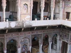 View of our courtyard; Mandawa Haveli