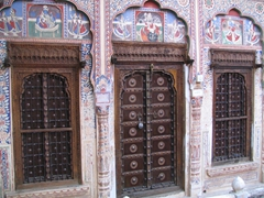 Door and windows to our suite; Mandawa Haveli
