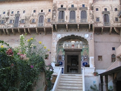 Entrance to our haveli hotel; Mandawa