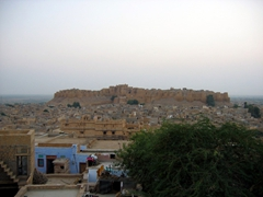 View of Jaisalmer Fort from our hotel rooftop