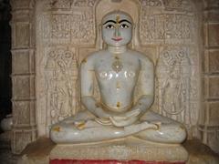 Serene figure; Jaisalmer's Jain Temple