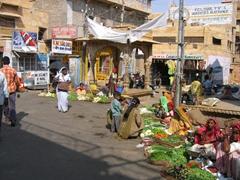 Fresh veggies for sale; Jaisalmer