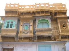 Four unique windows; Jaisalmer Fort