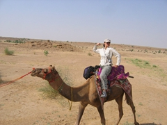 Gotta find some way to pass the time on a camel safari!