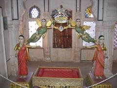 A very intricate/ornate baby crib; Jodhpur Fort