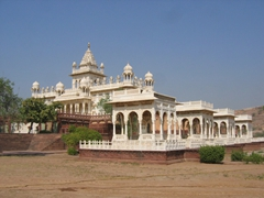 The milky white Jaswant Thada memorial (a tribute to Maharaja Jaswant Singh II)