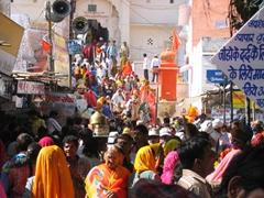 Crowded streets of Pushkar
