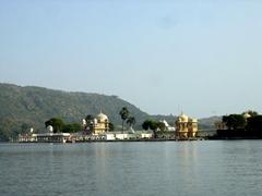 The beautiful Jagmandir Island; Lake Pichola
