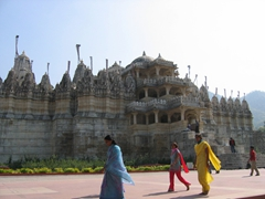Visitors to the amazing Ranakpur temples