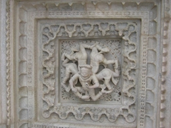 Carving panel; Ranakpur Jain temple