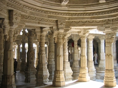 Interior of the Chaumukha temple; Ranakpur