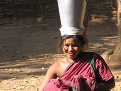 Young Soura tribal woman, Jargi Bhata village