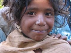 Crazy hair, young Soura tribal girl