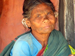 Kutia Kondh woman looks at us longingly