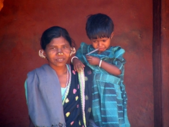 Kutia Kondh tribal woman and child
