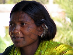 Check out all those earrings! Kutia Kondh woman