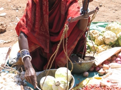 Vendor at the Kotagarh weekly market