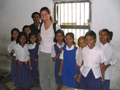Becky and Kutia school girls, Kotagarh