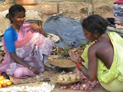 Women shopping at Dukum market