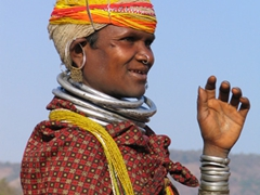 Bonda woman decked out in traditional garb