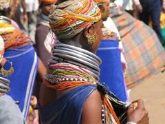 A common sight at the weekly Bonda Tribal market