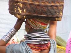 Morning's purchase at the Bonda tribal market